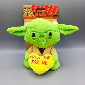 Yoda One For Me Valentine Plush Pet Toy